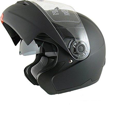 AMX, casco moto modulare 910 nero opaco, S