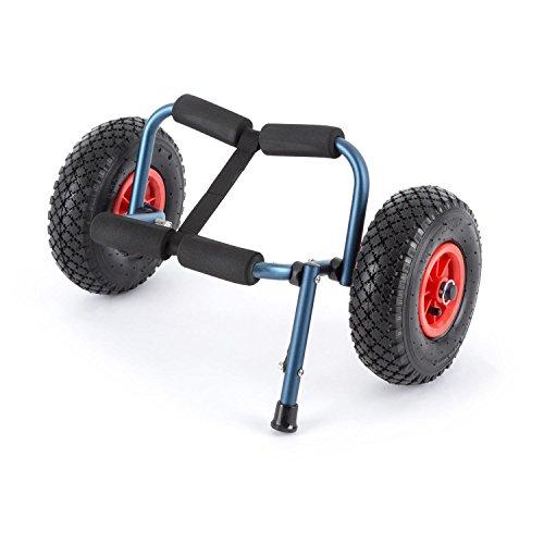 DURAMAXX - Sea Mule BL, Carro de Transporte para Kayak, Acolchado, Plegable, Desmontable, Ruedas de Goma, Carga máx. 60kg, Aluminio, Azul