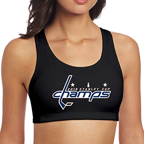 Capitals Stanley Cupcha-Mps Women Sports Bras Yoga Vest Sleeveless Workoutgym Underwear Black