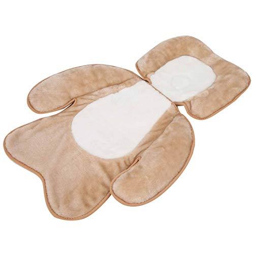 DAUERHAFT Cabeza de bebé Almohada de Apoyo para el Cuello Almohada de Felpa para Dormir Diseño Anti-balanceo Terciopelo PV para la Salud del bebé Seguro para bebés Menores de 1(Plush Brown)