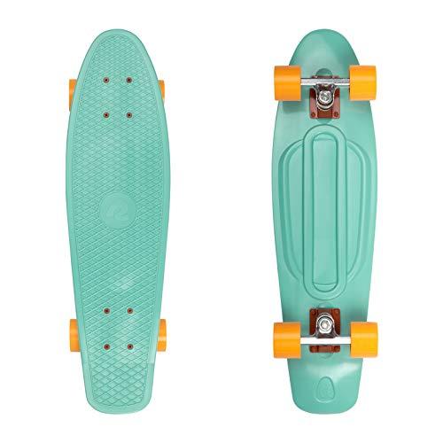 """Retrospec Quip Skateboard 27"""" Classic Plastic Cruiser Complete Skateboard, Seafoam"""