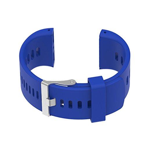 Toygogo Uhrenband Silikon Uhrenarmband Silikonband 117 x 28 mm Armband für Polar V800 für Herren Damen Kinder - Blau