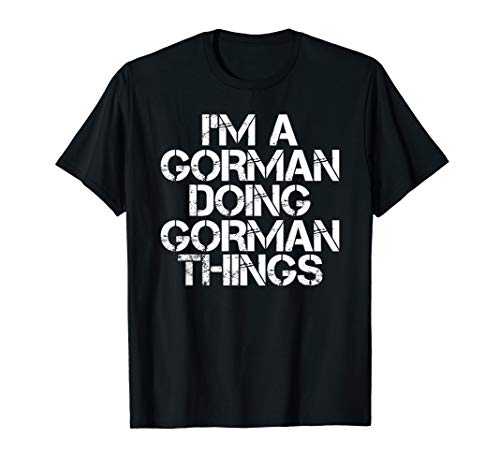 GORMAN Funny Surname Family Tree Birthday Reunion Gift Idea T-Shirt