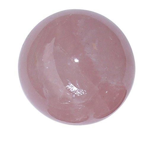 Rosenquarz Kugel Ø ca 38-40 mm A*extra Qualität aus Madagaskar super klare rosa Farbe.(4520)