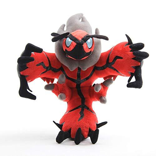 N\A 30 Cm Anime Pokemon Yveltal Peluches Muñeca Peluche, Gran Tamaño Rojo Dios Bestia Peluches Juguetes, Regalo para Niños 30cm Yveltal