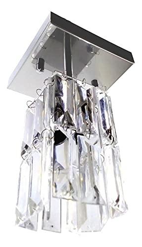 Lustre Pendente Plafon Cristal Crilick Pl7401/1 Cromado
