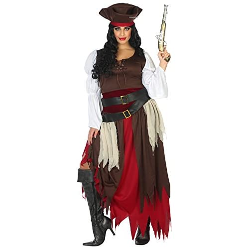 Atosa-38667 Disfraz Pirata, Color marrón, XL (38667): Amazon.es ...