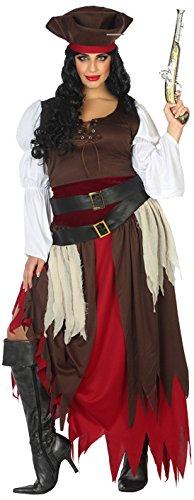 Atosa-38667 Disfraz Pirata, Color marrón, XL (38667)