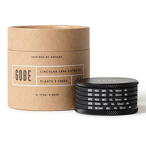 Gobe 58 mm Graufilter ND2, ND4, ND8, ND64, ND1000 - ND Filter Kit (2Peak)