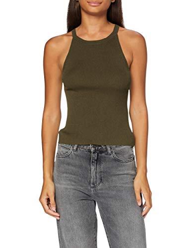 Pimkie Tss20 Truche Camisetas sin Mangas para Mujer, Kaki, L