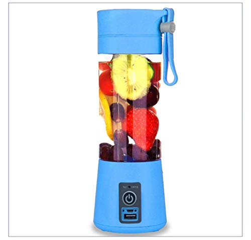 380ml USB multifunctionele oplaadbare blendermixer draagbare mini-sapcentrifuge machine smoothiemaker Huishoudelijke kleine sapcentrifuge nieuw, blauw