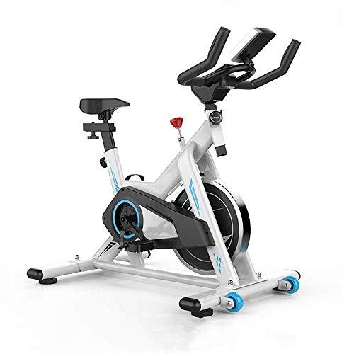 Bicicletas de ejercicio Bicicleta de fitness Equipo supersónico de interior Bicicleta deportiva Bicicleta vertical con soporte de carga 150 KG Negro Blanco para Cardio Trainin (Deporte de interior)