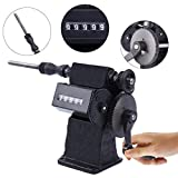 Yonntech Dual Purpose Manual/Electric Coil Winder Machine with Counter Hand Coil Winding Machine Range 0-9999 Round Black