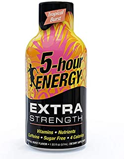 5-hour ENERGY, Extra Strength, Tropical Burst, 1.93 Ounce, 12 Count