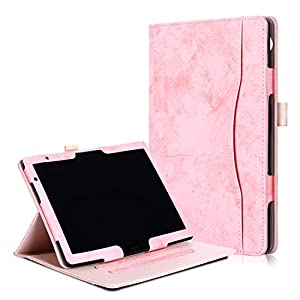 Xuanbeier PU Leather Stand Case for HW MediaPad T5 10 and M5 10.1 inch, with Multiple Viewing Angles and Hand Holder…