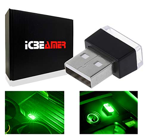 ICBEAMER 1pc Green Universal USB...