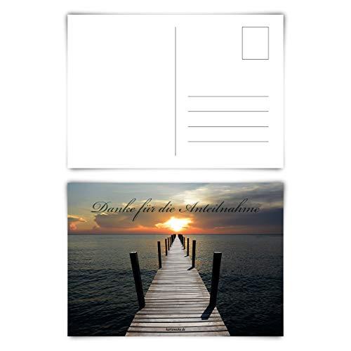 Trauerkarten Trauer Danksagungen 12 Stück Karten Set - Lichtsteg Postkarten