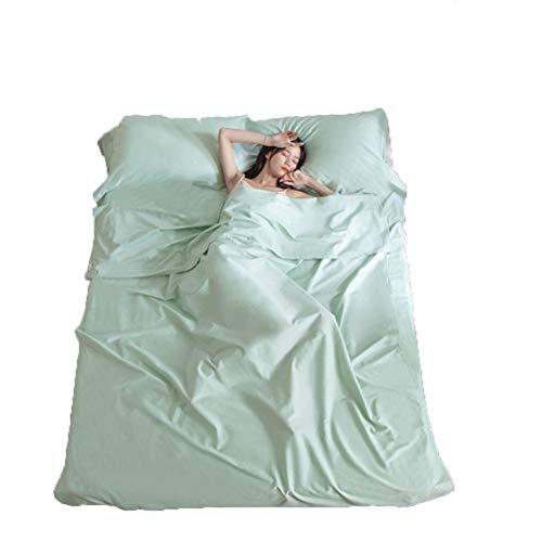 Nealpar Schlafsack Anti-Dirty Ultra-Light Outdoor Liner Polyester tragbaren Doppelschlafsack Camping Reise Gesundheit Schlafsack,BeanSproutGreen,180 * 215