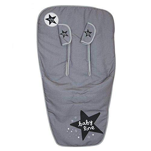 Babyline Stars 5000606 Funda Universal para la Silla de Paseo, Gris Jaspeado