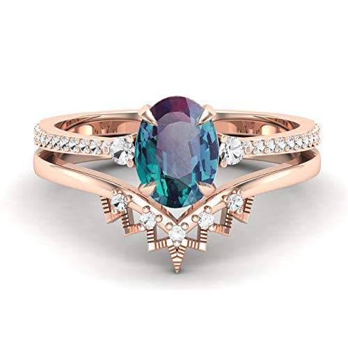 Alexandrite Rose Our shop Max 53% OFF OFFers the best service Gold Engagement Pave Set Ring