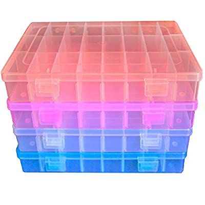 DUOFIRE Plastic Organizer Container Storage Box Adjustable Divider Removable Grid Compartment ?