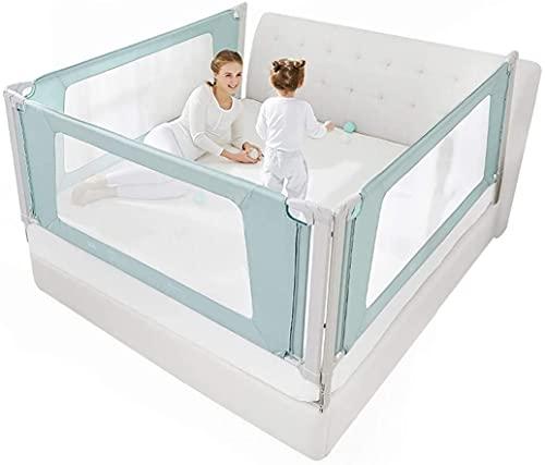 SDWJJ 70 cm Super High Baby Anti-Falling Bar Bar Bed Swarf Children's Bed 1.8-2 M General Vertical Rises a los niños Doble tamaño Doble Rey Rey (Color: Verde, Tamaño: 200 cm-1pc)