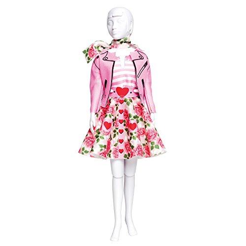 Vervaco PN-0164660 Kit de création de tenue de couture, Assortie, Convient à toute poupée de mode de 29 cm