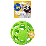 JW Pet Hol-ee Roller Original Do It All Dog Toy Puzzle Ball, Natural Rubber, Assorted Colors, Medium