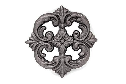 UHRIG ® ORNAMENT schmiedeeisen Eisenguss Rosette massiv Deko für Zaun fenstergitter Möbel usw. #662