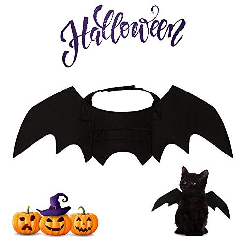 Costume de Chauve-Souris pour Chat Chien, Halloween Conception de Batman Ailes, Chien Chat Vêtements Cosplay Bat, Déguisement de Chat Chien Halloween Noël Créatif (Large)