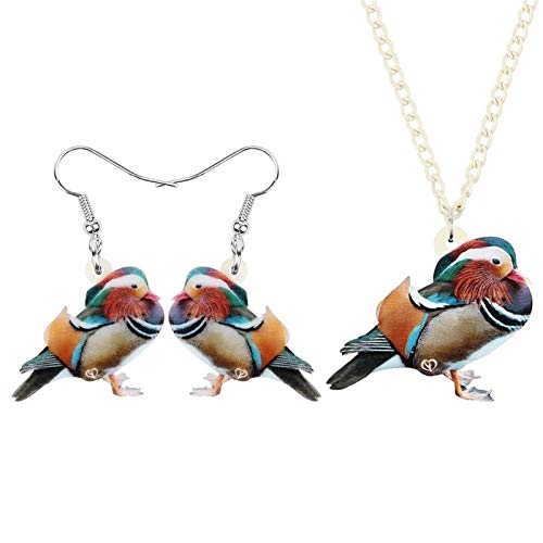 ZWwei Juego de joyas acrílicas largas con diseño de pájaros y animales, para mujeres, mujeres, adolescentes, decoración de regalo (color: multicolor)