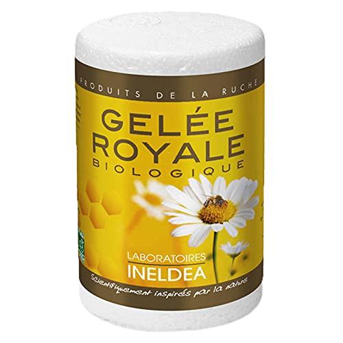 Nutriexpert - Gelée Royale Bio Ecocert - 100 % pure - Conditionnée en boîte isotherme sous atmosphère stérile - Renforce l'immunité - Réduit la fatigue - Pot de 25g avec cuillère doseuse intégrée