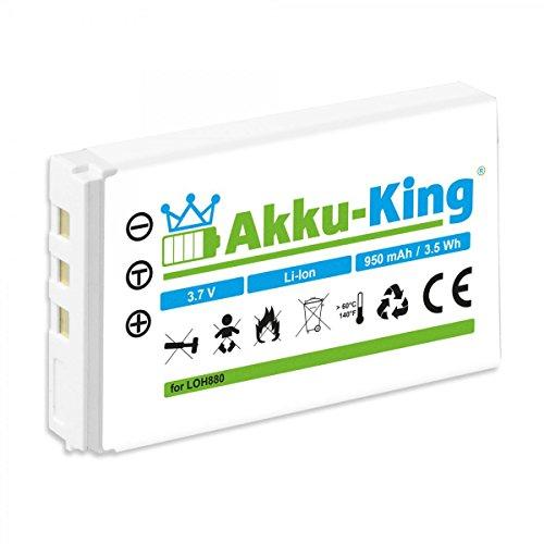 Akku-King Akku kompatibel mit Logitech R-RG7, R-IG7, F12440071 - Li-Ion 950mAh - für Harmony One 720, 785, 880, 885, 890, 895, 900, MX-880, MX-890