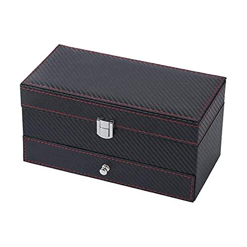WHZG Caja joyero Caja de joyería de Viajes Pequeño Organizador de joyería Titular de la Caja de Almacenamiento con 1 cajón para niñas Regalo de Mujeres Organizador Joyas