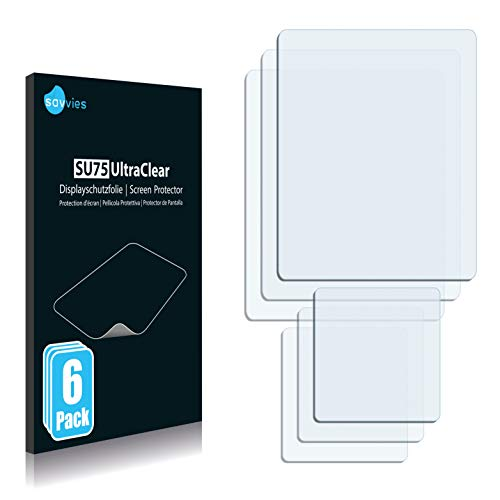 Savvies 6X Schutzfolie kompatibel mit Sony Ericsson Z520i Bildschirmschutz-Folie Ultra-transparent