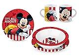 Star Licensing Set Pappa in Ceramica - Piatti e Tazza Disney Mickey Topolino a