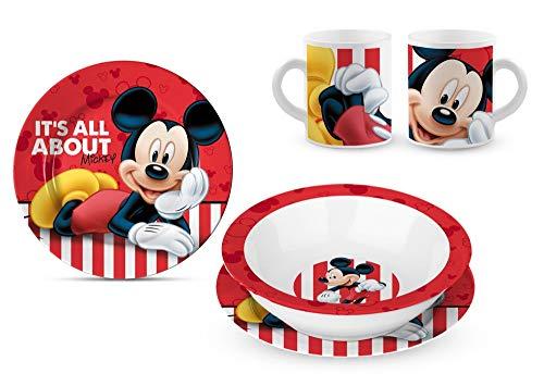 Star Licensing Conjunto de almuerzoin cerámica - Platos e Copa Disney Mickey...