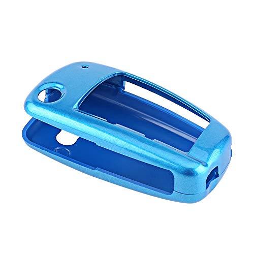 Sleutelhanger afdekking case sleutelhanger keyless entry afstandsbediening beschermhoes geval universele autosleutel beschermhoes voor a6l r8 a3 tt q7 a4 default blauw