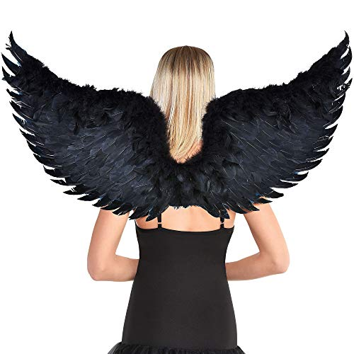 amscan Party City Dark Angel Wings Halloween Costume Accessory for Adults, One Size, Mulitcolor (8403555)
