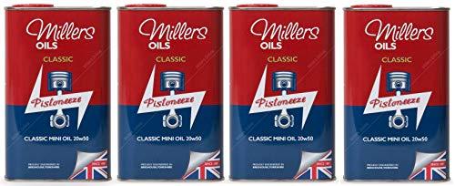 Millers Classic Mini Oil 20w50 Minerale Motorolie voor motor/versnellingsbak eenheden, 4 liter