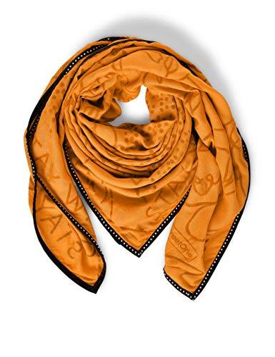 Street One Damen 571270 Uni Patchwork Mode-Schal, soft foxy caramel, One Size