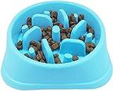 Perro de Mascota Slow Food Bowl Anti-estrangulación Bowl Mascotas Suministros Perros grandes y pequeños Perder peso para ayudar a la digestión Utensilios Para Mascotas Slow Eating Dog Bowl (azul)