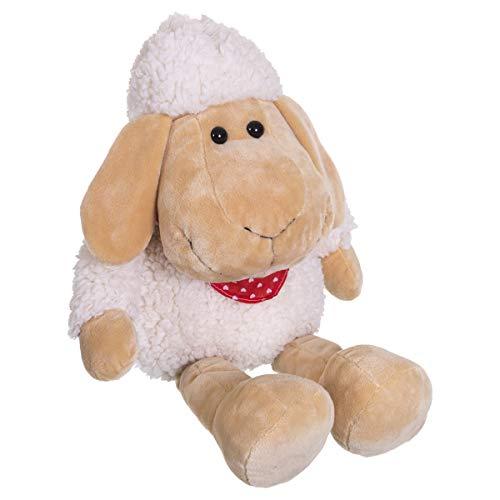 Bieco Plüsch Schaf Polly | ca. 50 cm | XXL Kuscheltier | Baby Kuscheltiere | Baby Spielzeug | Kuscheltier Baby | Baby Einschlafhilfe | Kuscheltiere für Babys | Stofftier Baby | Kuscheltier Schaf