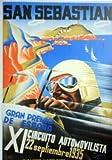 San Sebastian 1935 Poster, Poster, Größe 50 x 70 cm,
