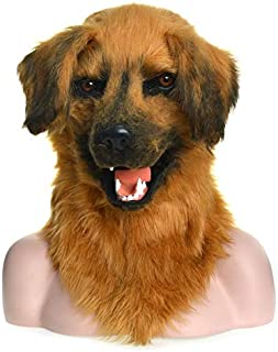 WNGCAR AU Moving Mask Animal Mask Yellow Dog Animal Carnival Mask (Color : Brown)