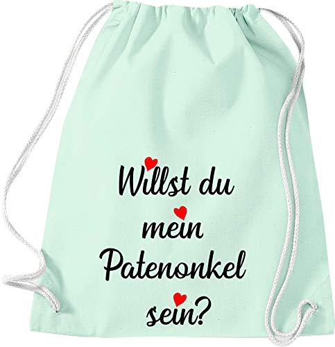 Sticker-liese kindergymtas rugzak gymzak spreuken stoffen tas met opdruk motief wil je mijn peuteronkel Sein?