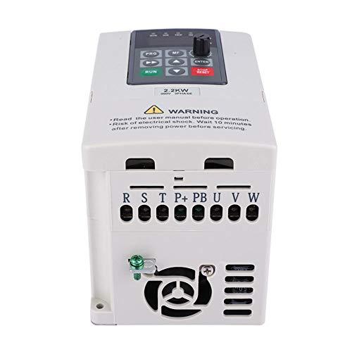 Variador de frecuencia, 380V 2.2KW VFD Drive Inverter para motor trifásico, Motor Inverter Converter para maquinaria de producción, ventiladores, bombas, variador de velocidad, Muti-protección