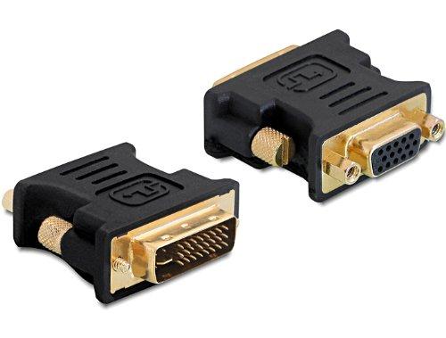 DeLOCK 65016 - Adaptador DVI-I a VGA, Negro