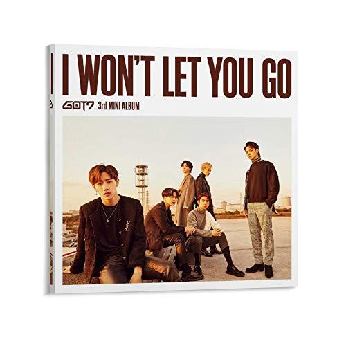 XYDQ Póster decorativo con texto en inglés 'Got 7 I WON'T LET YOU GO' (40 x 40 cm)
