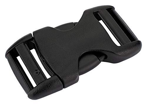 25-1 Inch YKK Flat Heavy Duty Dual Adjustable Side Release Plastic Buckles